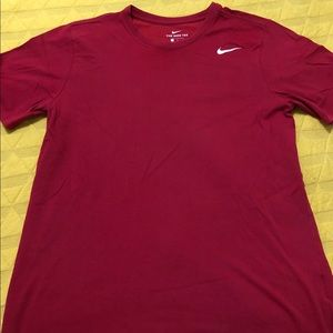 Red Nike Dri-Fit Workout T-Shirt